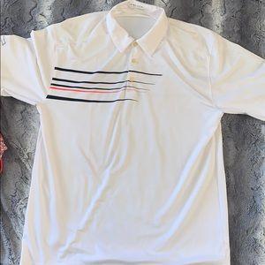 Nike | Golf Polo white with black & orange stripe